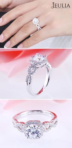 Engagement Must-Haves:Halo Engagement Ring. You already know that halo engagement rings are beautiful … but you probably don't know about these spectacular benefits. #JeuliaJewelry
