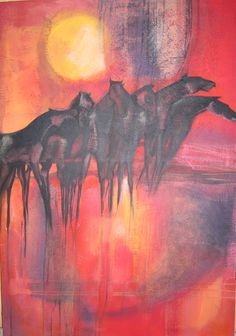 acrilico pittura 90x110cm