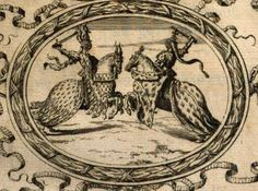 Gravure chevaux et chevalier 1648/ Engraving horse and knight 1648