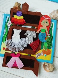 Mermaid doll house Quiet book for girl Soft montessori book | Etsy