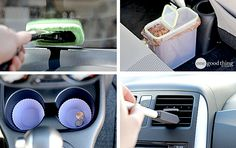 Handy Hacks For Spring Cleaning & Organizing Your Car - One Good Thing by Jillee Spring Cleaning Organization, Car Cleaning Hacks, Deep Cleaning Tips, Car Hacks, House Cleaning Tips, Cleaning Solutions, Organization Ideas, Car Fix, Clean Your Car
