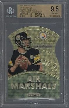 Other Sports Trading Cards 217: Bgs 9.5 Ben Roethlisberger 2015 Panini Prizm Air Marshals Gold Vinyl 2 5 Gem -> BUY IT NOW ONLY: $74.99 on eBay!
