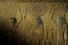 Offering scene in the tomb of Ti from the 5th Dynasty at Saqqara.