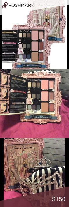 In your dreams super rare too faced palette Lightly used in great condition with box. Rare too faced sold out everywhere limited edition palette. Gorgeous colors and design.retails for up to 250 on eBay if you can find it Too Faced Makeup Eyeshadow