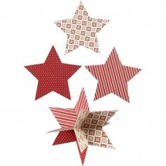 3D Sterne, D: 15 cm,  300 g, Copenhagen, 3Stck.
