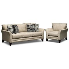 Union Square Upholstery 2 Pc. Living Room W/Chair   Value City Furniture  $749.98