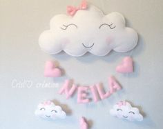 Guirlande nuage by Crislocreations on Etsy