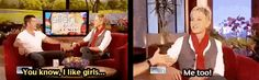 """When she identified with Simon Cowell. 