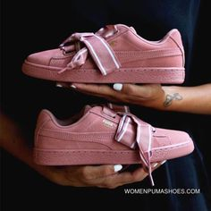 bbdeb57b408 Puma Suede Heart Satin II 364084-03 Pink Cheap To Buy