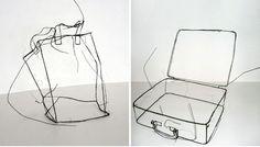 wire sculpture Fritz Panzer 5