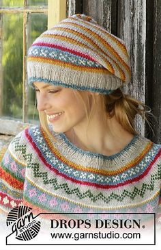 Ravelry: 196-7 Winter Carnival Hat pattern by DROPS design