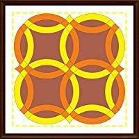 Silesian Quilt Plantilla para Patchwork Double Wedding Ring 6 Pulgadas Bloque