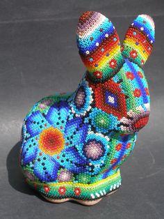 Huichol Clay Rabbit