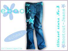 Ebook / Schnittmuster lillesol stars No.3 Bootcut-Jeans *schmal* - lillesol & pelle Schnittmuster