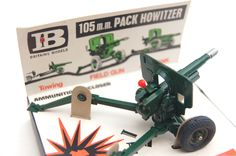 Vintage Toys Wanted by the-toy-exchange - A boxed 105 mm Pack Howitzer Filed Gun model by Britains Toys Ltd.