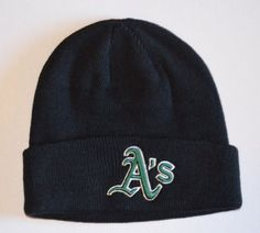 Oakland Athletics A's Black Beanie Hat