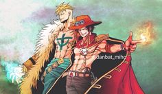 Portgas D. Ace and Marco the Phoenix One piece
