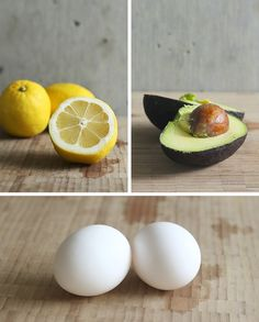 Avocado, egg and lemon hair mask to turn dull, coarse hair into shiny, soft hair. love love it!