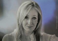 J.K. Rowling . Portrait Painting .  Egg tempera on Board . 56cm x 80cm .