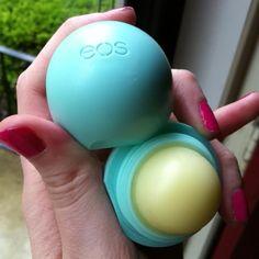 eos lip balm in sweet mint.