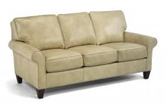 Lincoln/Loren Leather Sofa by Flexsteel at Crowley Furniture in Kansas City
