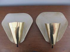Pair of Mid Century Modern Sconces Lamp Fixture Atomic Lightolier Stilnovo Eames   eBay