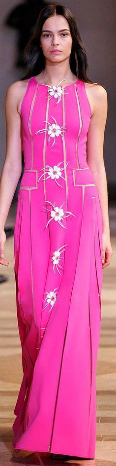 Carolina Herrera Spring 2016 pink maxi dress women fashion outfit clothing style apparel @roressclothes closet ideas