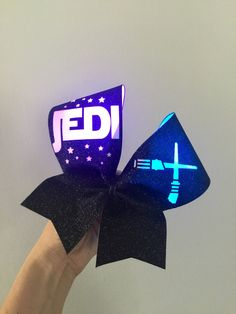 JEDI Light up Rainbow Color changing lights light saber cheer bow Big Cheer Bows, Big Bows, Cheers Theme, Jedi Lightsaber, Disney Bows, Color Changing Lights, Ponytail Holders, Rainbow Colors, Light Saber