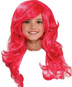 Strawberry Shortcake Child's Wig - Isn't she cute? What fun to complete any Strawberry Shortcake Costume, and some girls like to use it for Ariel Too!