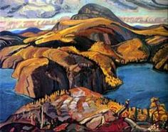 Octubre sur la rive nord du lac Supérieur [oil on canvas], Group Of Seven Artists, Group Of Seven Paintings, Tom Thomson, Emily Carr, Canadian Painters, Canadian Artists, Art Inuit, Rive Nord, La Rive