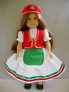Fits-18-American-Girl-doll-Hungary-Hungarian-folk-dress-clothes-M-COSTUME-ONLY I sell on eBay at http://stores.ebay.com/Nanis-Niche . If you don't see what you are looking for, please contact me through eBay. I have no affiliation with American Girl / Pleasant Company, or any doll manufacturer.