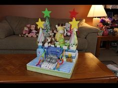 ▶ Boys Diaper Cake Castle (How To Make) - YouTube