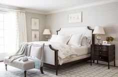 """Tip No. 2: You Don't Need Crazy Prints to Look Lively  The living room, with a palette that picks up on the soft ocean blues of the nearby beach, has a relaxing, quiet ease. For Mollie, it's a matter of personal philosophy and taste: """"I love rooms to be beautiful but more on the quiet side,"""" she says. """"I don't like loud prints, I don't like that accosting feeling of big color."""" The closest she came to pattern is the striped Tibetan rug, which """"has the look of a striped beach towel."""""""