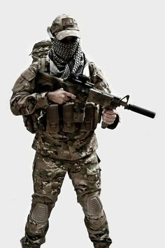 A semi light weight airsoft outfit. Military Armor, Military Figures, Military Gear, Military Life, Anime Military, Military Uniforms, Special Forces Gear, Military Special Forces, Survival
