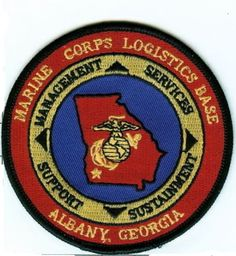 USMC MCLB Albany, Georgia color PATCH Marine Corps Logistics BASE Albany Marines