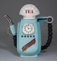 A modern Sunshine Ceramics pottery novelty teapot modelled as a petrol dated 1985=6 | The Canterbury Auction Galleries
