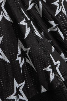 Perfect Moment - Printed Stretch-mesh Bomber Jacket - Black - x small