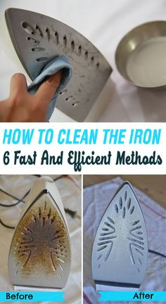 How to clean the iron: 6 fast and efficient methods - House Cleaning Routine