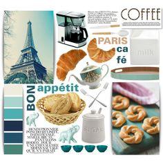 Bon Appétit: Paris Café by aquilavalenteapp on Polyvore featuring interior, interiors, interior design, home, home decor, interior decorating, BIA Cordon Bleu, Sur La Table, Fountain and INC International Concepts