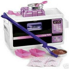 "EZ Bake Oven    Oh man, did I want one of these bad when I was a kid. I also really wanted diabetes, which this would have given me, too. You mean I can eat half-cooked brownie dough all day and call it ""play?"" Yes, please."