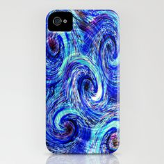 Vortex iPhone Case by Vargamari - $35.00 - Digital, based on one of my encaustic paintings