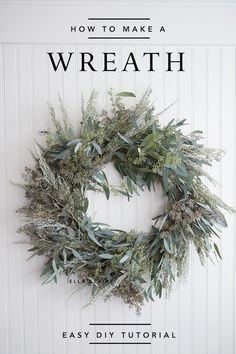 How to make a live Wreath- an easy tutorial for a beautiful fresh wreath made from inexpensive greens- perfect for Christmas or many holidays. wreaths How to Make a Live Wreath - Ella Claire Christmas Wreaths To Make, Christmas Balls, How To Make Wreaths, Christmas Home, Christmas Crafts, Christmas Decorations, Christmas Advent Wreath, Homemade Decorations, Christmas Swags