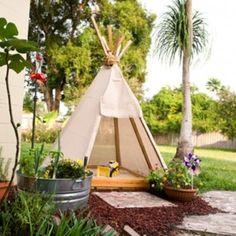 summer teepee sandbox