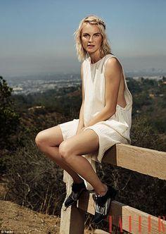 Beauty:Phoebe Dahl, 26, flaunts her slim figure in an exclusive shoot for Tatler magazine...
