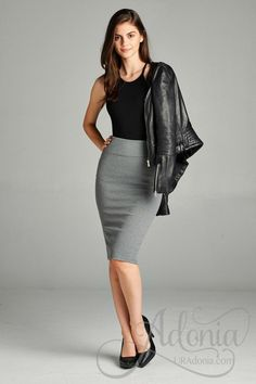 Camille -Solid Pencil Skirt Best Picture For Pencil Skirt work For Your Taste You are looking for so Pencil Skirt Work, Pencil Skirt Casual, Denim Pencil Skirt, Pencil Skirt Black, Pencil Skirts, Pencil Dresses, Denim Skirt, Pencil Dress Outfit, Pencil Skirt Outfits