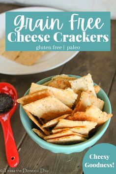 Cheesy crackers made with no gluten or grains! Easier than you think! A perfect paleo snack! Paleo Recipes, Real Food Recipes, Garlic Brussel Sprouts, Healthy Rice, Homemade Granola Bars, Best Side Dishes, Gluten Free Snacks, Vegetable Side Dishes, Grain Free