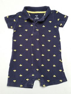 The Beatles Yellow Submarine Carters Blue Collar Onesie 18 Months #Carters #Everyday