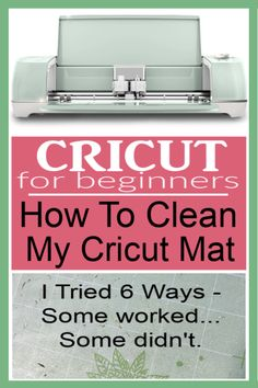 How To Clean A Cricut Mat With Baby Wipes Cricut Mat