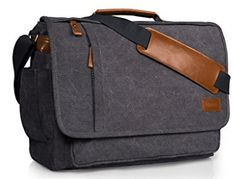 Buy Laptop Messenger Bag 17 Inch Water-resistance Canvas Shoulder Bag for Work College - Grey - and More Fashion Bags at Affordable Prices. Best Laptop Messenger Bag, Laptop Shoulder Bag, Canvas Shoulder Bag, Laptop Backpack, Crossbody Shoulder Bag, Shoulder Bags, Laptop Bags, Mens Canvas Messenger Bag, Buy Laptop