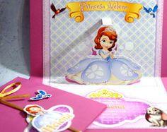 Convite PopUp (3D) Princesa Sofia
